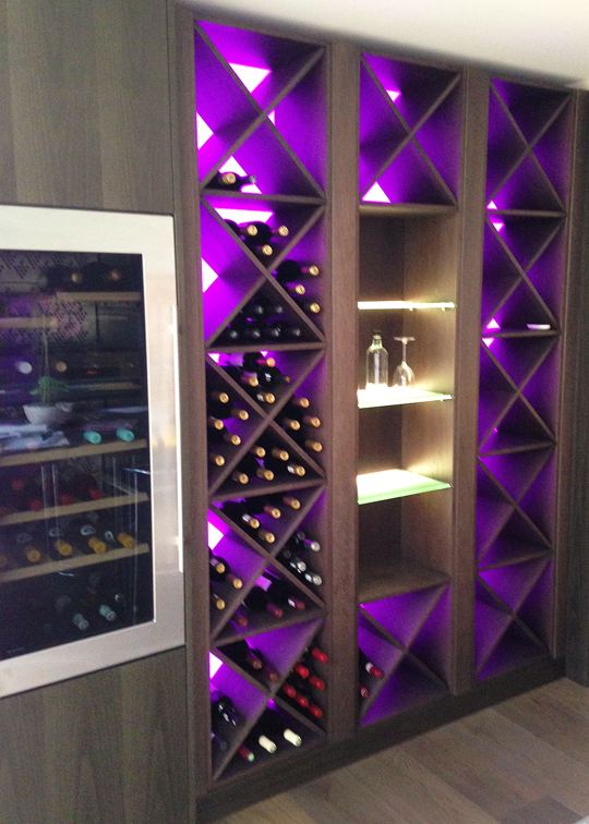 Rgb Wine Rack Surrey Lightwave Led Lighting Specialists
